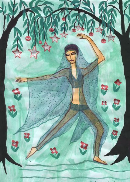 Nutcracker Act 2 impressions. A painting by Sushila Burgess.