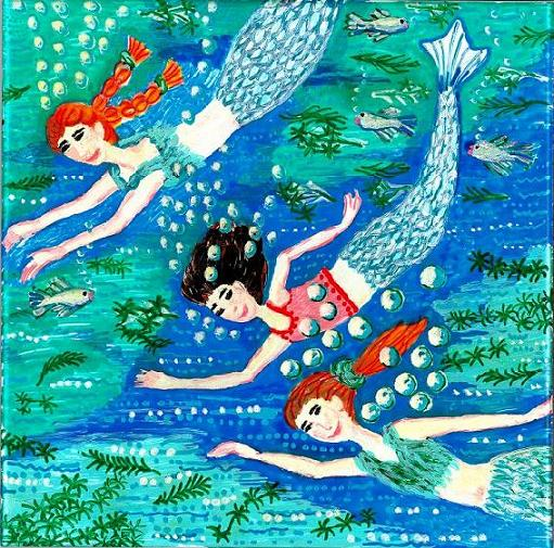 Fairy And Mermaid Paintings By Sushila Sue Burgess